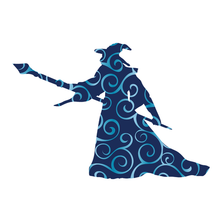 Magician wizard character pattern silhouette fantasy 写真素材