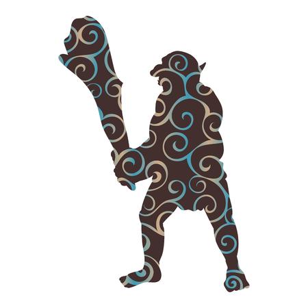 Troll pattern silhouette monster villain fantasy