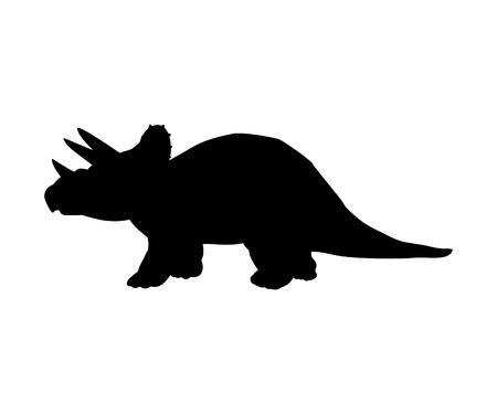 Silhouette Triceratops dinosaur jurassic prehistoric animal