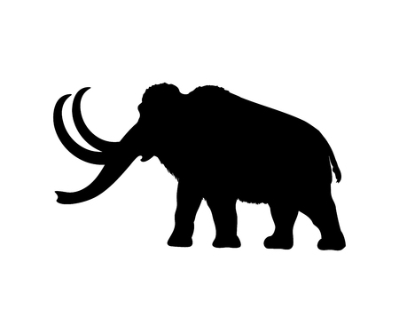 Mammoth silhouette extinct mammalian animal