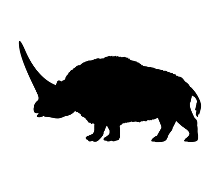 Elasmotherium rhinoceros silhouette extinct mammal animal 일러스트