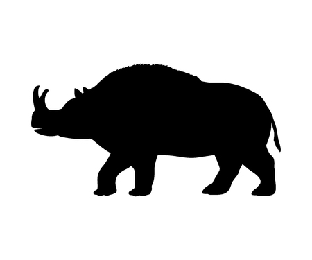 Brontotherium rhinoceros silhouette extinct mammal animal 일러스트