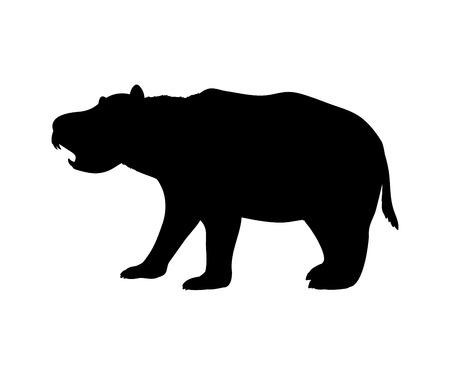 Diprotodon silhouette extinct marsupial mammal animal
