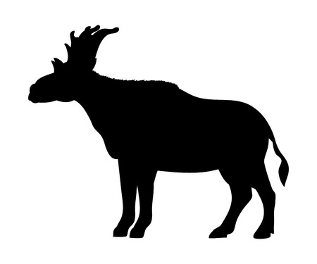 Sivatherium silhouette extinct mammalian animal