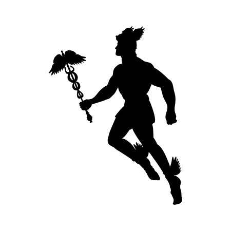 Hermes greek god silhouette mythology symbol fantasy