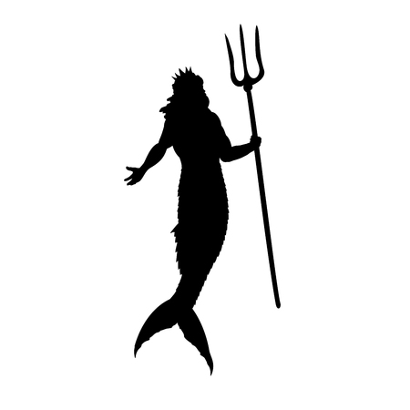 Poseidon Neptune god silhouette mythology fantasy