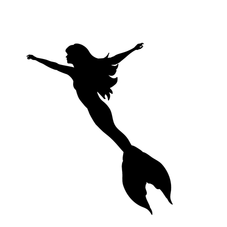 Mermaid siren water nymph silhouette ancient mythology fantasy