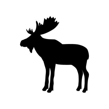 Elk moose bull mammal black silhouette animal