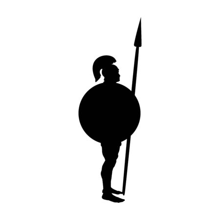 Ares god  war silhouette ancient mythology fantasy