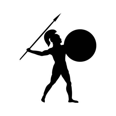 Ares dio guerra silhouette antica mitologia fantasy
