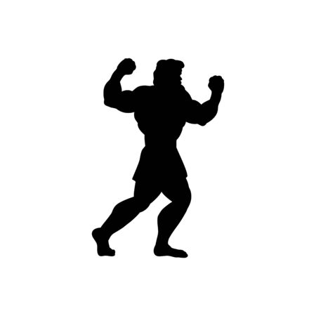 Athlete sportsman silhouette strong male