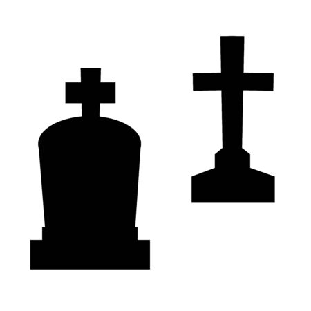 Halloween cemetery symbol holiday silhouette