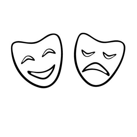 Mask theatre. World theatre day Vettoriali