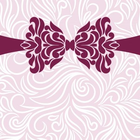 damask background: Vector ornate background. Invitation card. Illustration