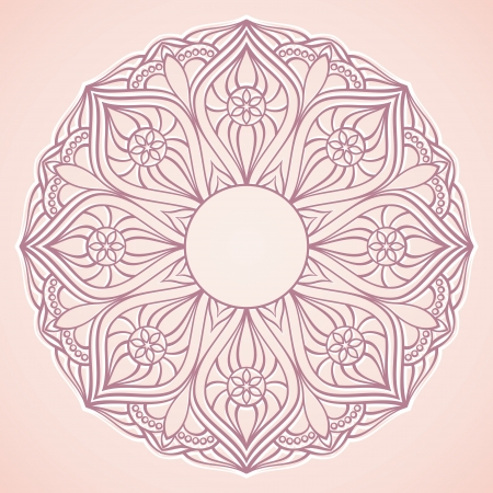 Ornamental round lace  circle background  Vector