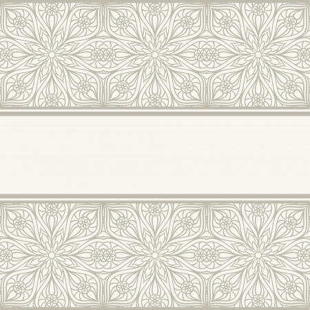 Floral border  Abstract flower background  Vector