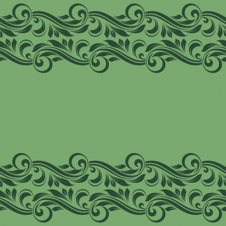 Floral border. Abstract flower background. Vector