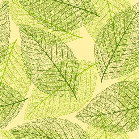 Skeleton leaves. Seamless background