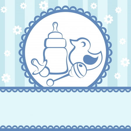 baby announcement card: Baby card. Baby arrival announcement card Illustration