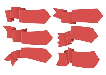 fayer: Set of ribbon tag labels Illustration
