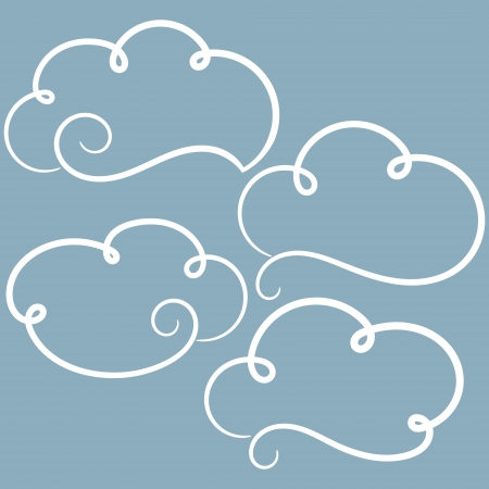 Clouds set  Abstract clouds  Vector