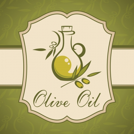Olive oil  Vintage label  Vector