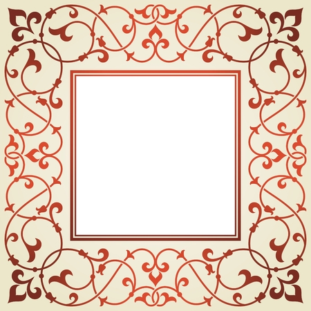 twining: Floral invitation card  Illustration