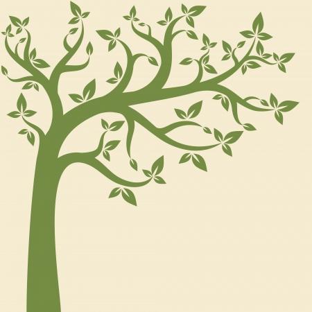 Decoratieve bomen achtergrond. Lentebanner