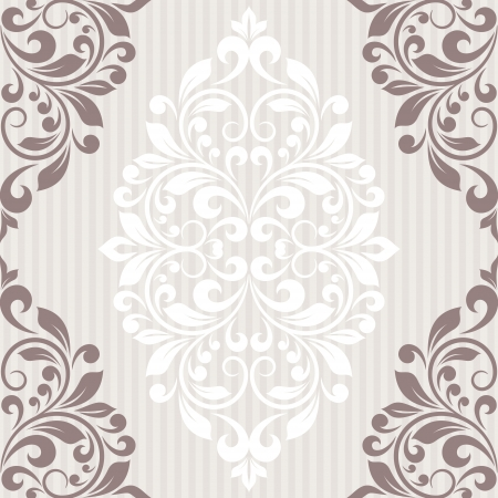 Invitation card. Vintage background with floral pattern. Vector