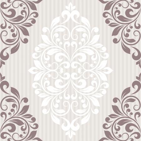 cartoline vittoriane: Invitation card. Vintage sfondo con motivo floreale. Vettoriali