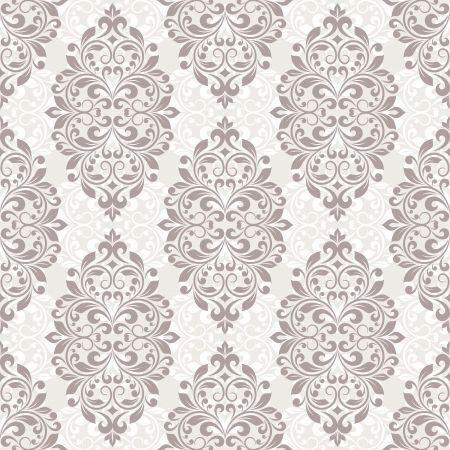 Damask seamless pattern for design. Vector