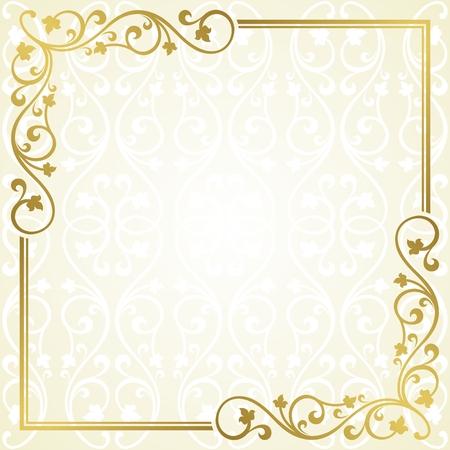 twining: Floral invitation card. Illustration