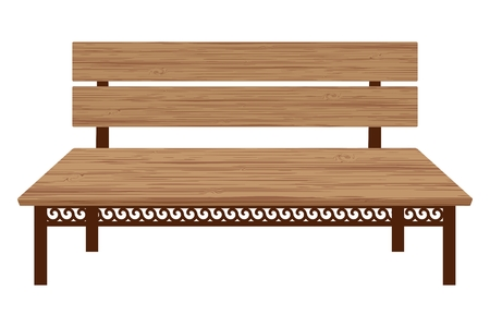 Wooden bench Illustration