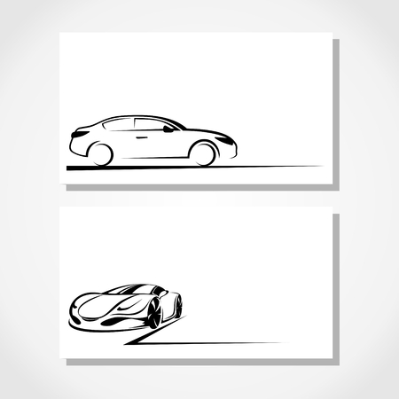 silhouette of car Illustration