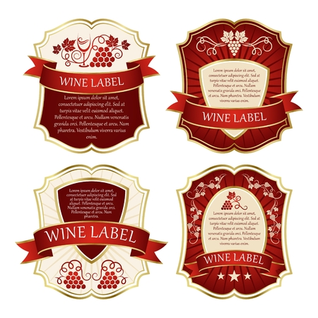 Wine label. Labels with grapes. Vector