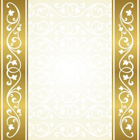 arabic frame: Floral invitation card. Illustration