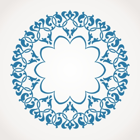 Round Ornament Pattern. Vector