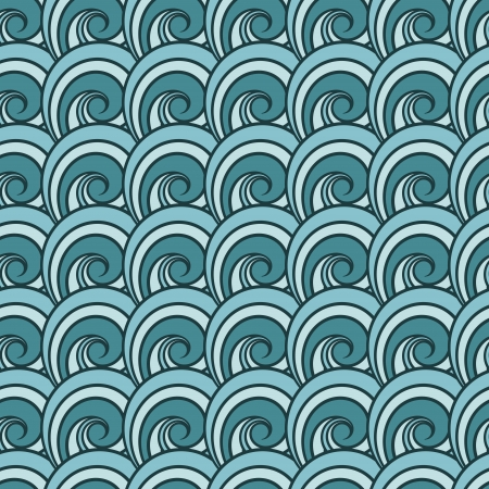 capricious: Seamless wave pattern. Abstract sea  Illustration