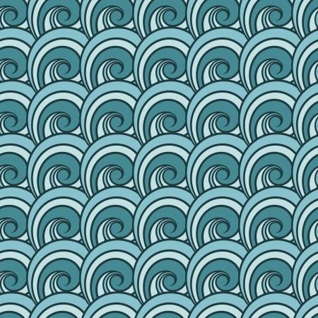 Seamless wave pattern. Abstract sea Banco de Imagens - 24988605