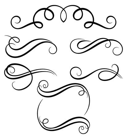 corner design: Calligraphic decorative elements. Illustration