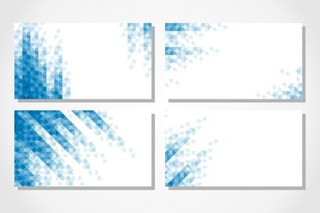 corner design: Set of business cards.