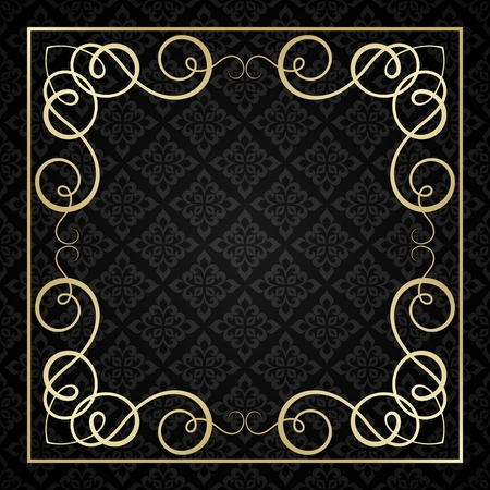 Vintage calligraphic frame. Vector