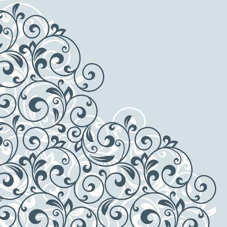 linework: Floral greeting card. Illustration