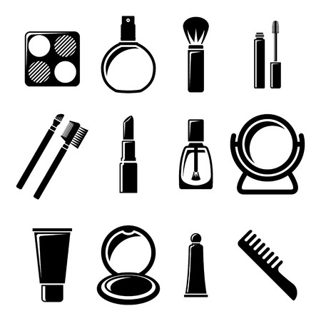 cosmetics collection: Set of cosmetics icons.