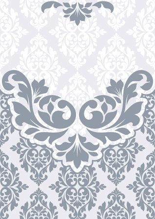 twining: Floral invitation card