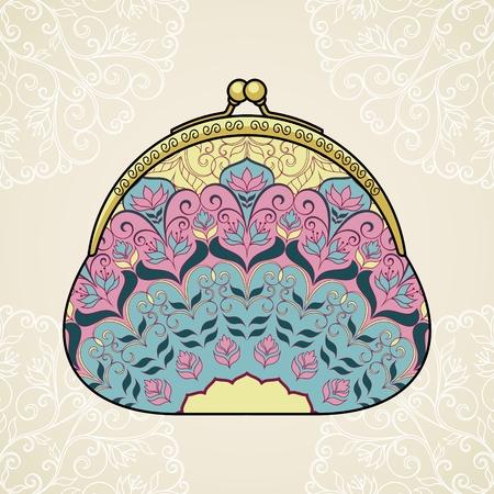 Lacy elegant purse Stock Vector - 29462843