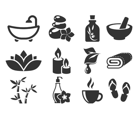 Spa-Icons. Vektorgrafik