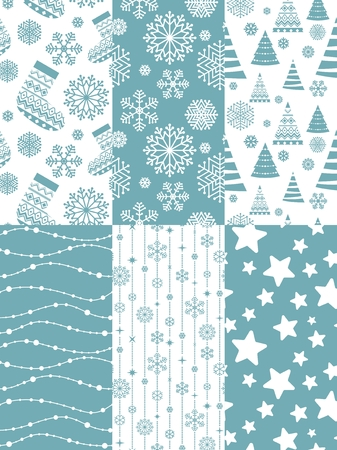 Set of Christmas seamless patterns. 10 eps.