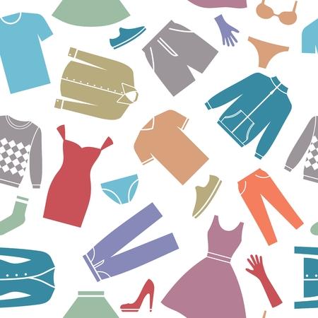 服とのシームレスな背景。10 の eps  イラスト・ベクター素材