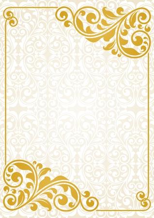 ビンテージ グリーティング カード。これは、EPS10 形式のファイルです。  イラスト・ベクター素材